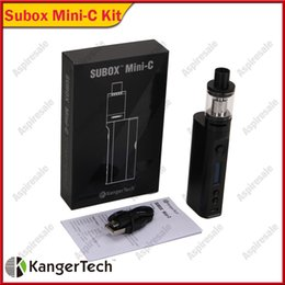gold kanger subox Australia - Authentic Kanger Subox Mini C Starter Kit 50W with Protank 5 Tank SSOCC 0.5ohm Coil KangerTech kbox Mini-C Box Mod