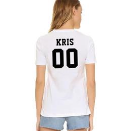$enCountryForm.capitalKeyWord UK - Kris t shirt Cool words EXO 00 Wu Yi Fan short sleeve gown Street leisure tees Unisex clothing Pure color cotton Tshirt