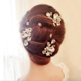 $enCountryForm.capitalKeyWord NZ - New bride, handmade pearl drill, hair comb, short hair, wedding headwear, white wedding accessories.