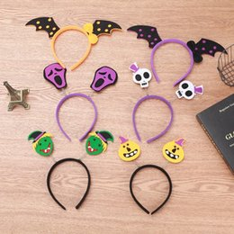 hoop stick NZ - Halloween Hair Sticks For Home Halloween Headband Skull Bat Pumpkin Witch Hair Hoop Costume Party Decoration Kids