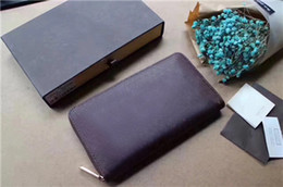 $enCountryForm.capitalKeyWord NZ - Classic Men Women Wallet Designer Luxury Handbags Purses Leather Standard Long Wallet Zipper Parcel Purse Clutch Bag 60003