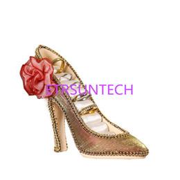 fa9f9f3298e3 High Heeled Shoes Ring Holder UK - High Heel Shoe Ring Stud Displays Holder  Organizer Resin