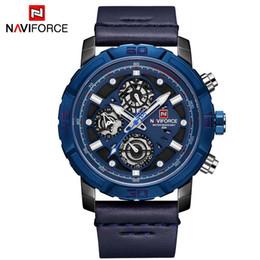 $enCountryForm.capitalKeyWord NZ - NAVIFORCE Mens Blue Watches Top Brand Luxury Waterproof 24 hour Date Quartz Watch Men Leather Sport Wristwatch Relogio Masculino