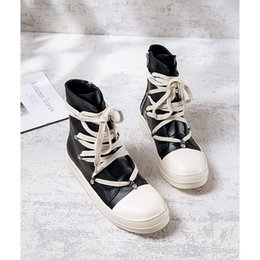 d879f43a72a1 Owens Gaobang shoes men and women 2018 canvas shoes new hip-hop tide high-top  sports wild casual leather man women s shoes Boots