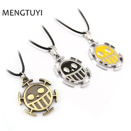 One Piece Trafalgar Figure Australia - J Store Japanese Anime One Piece Necklace Trafalgar Law face figure Pendant Necklace Fashion Cosplay Accessories