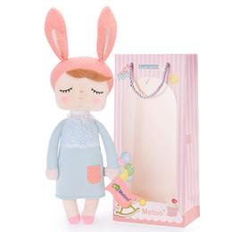 $enCountryForm.capitalKeyWord Canada - bunny doll Metoo Bunny Angela Dolls Wearing Gray Rabbit Dress Stuffed Dolls doll gift plush rabbit