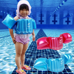 Baby Pool Inflatables NZ - hot Child Inflatable Swim Vest Arm Float Ring Baby Boy Girl Circle Ring Infant Float Swim Trainer Swimming Pool Accessories