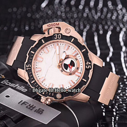 Hammer mecHanical online shopping - Luxury mm Maxi Marine Diver LE HAMMER Black Dial Automatic Mens Watch Rose Gold Case Rubber Strap Sport High Quality Watches