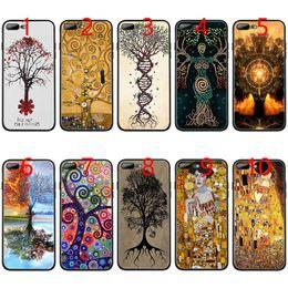 Iphone 6s Plus 5.5 Australia - Gustav Klimt Tree of Life Golden Tears Oil Soft Black TPU Phone Case for iPhone XS Max XR 6 6s 7 8 Plus 5 5s SE Cover