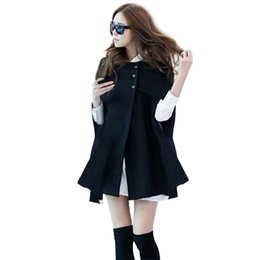 $enCountryForm.capitalKeyWord UK - Autumn Woman Ladies Batwing Oversized Casual Winter Coat Jacket Loose Cloak Cape Outwear Black Big Outwear Coat