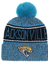 2019 American City All Team Jacksonvill Beanies Sports Pom Hat Men Women  Sideline Cold Weather Reverse Knit Hat Official Graphite Black Caps d1e345b14