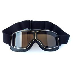 a48b0cd9ebc467 Motorcycle biker goggles online shopping - Universal Vintage Motorcycle  Goggles Pilot Aviator Motorbike Scooter Biker Glasses