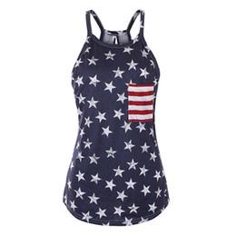 $enCountryForm.capitalKeyWord Australia - Sexy Summer Style Sleeveless Tops American USA Flag Print Stripes Tank Top for Women Blouse Vest Shirt