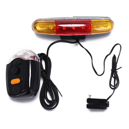Discount led stop turn lights 7LED Super Bright Universal Bike Bicycle Cycling Stop Brake Light Turn Signal Night Lamp For Cycling