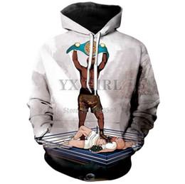 Men Boxer Long NZ - New style Harajuku hoodie men women 3D printed boxer Conor McGregor win game hoodies sweatshirts long sleeve hip hop tops P15