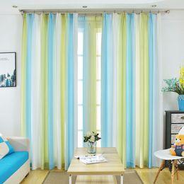 $enCountryForm.capitalKeyWord Australia - Printed Colorful Rainbow Beautiful Semi Blackout Window Treatments for Living Room Red Tulle Sheer Curtain Elegant Rideaux Salon Draps