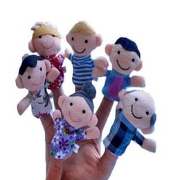 Discount hand puppets for kids - Children's Toys Family Hand-puppet Plush Toy Doll Funny Interactive Doll Creative Gift for Kids