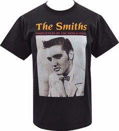 28991cba7120da Cotton Shirts MENS BLACK T-SHIRT THE SMITHS SHOPLIFTERS ELVIS PRESLEY  BRITISH MORRISSEY S-5XL Band Logo Tee Shirt For Men