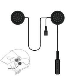 headphones helmets Canada - Motor Wireless Bluetooth Headset Motorcycle Helmet Earphone Headphone Speaker Handsfree Music For MP3 MP4 Smartphone Iphone Samsung