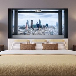 China Creative Removable 3D City View Building Sofa Wallpaper Bedside Wall Stickers DIY Art Home Decoration Murals Vinyl Decals suppliers