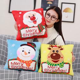$enCountryForm.capitalKeyWord Australia - Santa Claus Elk Snowman Blankets Cartoon Plush Pillow Hand Warmer pillow Three-In-One Hand Warmer Pillow Quilt Blanket Cushion