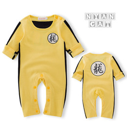 $enCountryForm.capitalKeyWord Canada - New Newborn Baby Clothes Baby Costume Baby Boy Clothes Chinese Style Dragon Letter Pattern Jumpsuit Romper Outfits For Bruce Lee