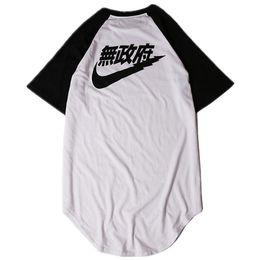 $enCountryForm.capitalKeyWord UK - 2017 Summer T-Shirts For Men Hip Hop Streetwear clothing Hem Expand Pilot Anarchy printed KANYE WEST Curved Hem Tee Shirt