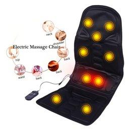 Health Care Electric Massager Chair Massage Electric Car Seat Vibrator Back Neck Massagem Cushion Heat Pad For Legs Waist Body Massageador