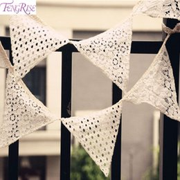 $enCountryForm.capitalKeyWord NZ - FENGRISE Wedding Vintage Bunting Rustic Hessian Burlap Banner Lace Fabric Pennant Garlands Wedding Decoration Party Supplies
