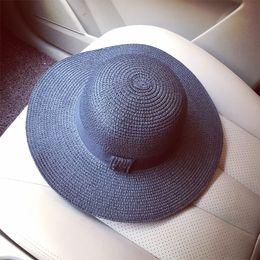 $enCountryForm.capitalKeyWord NZ - Causey Summer Fashion Women letter Large straw panama hat with a wide brim beach sun Visor Caps sombrero paja mujer 2018 New