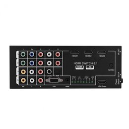 Audio Switcher Out Australia - Freeshipping 8 In 1 Out 1080P 3D Audio Video HDMI Switch Switcher Converter with IR Remote for HDTV DVD Projector