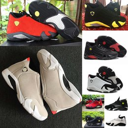 Candies sneakers online shopping - High Quality s Black Toe Fusion Varsity Red Suede Thunder Men Basketball Shoes Cool Grey DMP Candy Cane Sneakers With Shoes Box