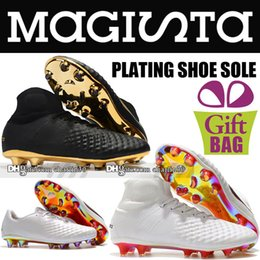 Cheap Shoes Boots NZ - Cheap Original 2018 High Ankle Magista Obra II Elite DF FG Soccer Shoes Mens New Magista ACC Socks Football Boots World Cup Soccer Cleats