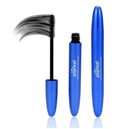 unique mascara Canada - POPFEEL Curled Lashes Black Mascara Waterproof Mascara Lengthening Thick Makeup Mascara VS 5103 Unique for beauty ePacket shipping