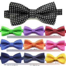 Wholesale Fashion New Boys Ties Bows Polka Dots Printed Butterfly Children Bow tie England Gentelman Style Dot Kids Party Accessories 17 Colors A7059