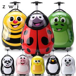 $enCountryForm.capitalKeyWord Canada - Cartoon wheeled luggage+backpack 3D animals children suitcase ABS PC travel trolley suitcase kid luggage