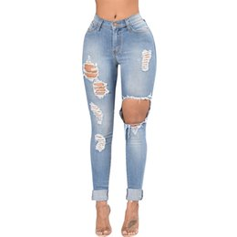 Good Hole Ripped Jeans Women Pants Cool Denim Pencil Jeans For Girl Pants Andrea Mendes Arroio Deiama Miami Beach Brazilian Brunette Bottoms