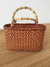 $enCountryForm.capitalKeyWord NZ - Handmade bamboo handbags woven bamboo bags women hand bags shopping basket tea storge tea collection storge nature