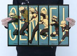 Toptan yüksek kalite Kahverengi Posteri animasyon Uzumaki Naruto Hokage Ev ve iş kahverengi Kağıt için Çıkartmalar ve Duvar yaklaşık 50 * 35 cm indirimde