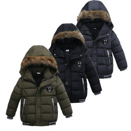 $enCountryForm.capitalKeyWord UK - Children Casual Cotton Jackets Boys 2017 Autumn and Winter New Cartoon Smiling Face Coats Baby Boy Fur Collar Hooded Warm Jacket