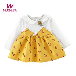 ... fe99f 27e60 New Cute Toddler Kids Baby Girls Long Sleeve Print Cartoon  Clothes Party  cheap for discount d0268 211a2 LCJMMO 2017 Baby Girl Dress  Summer ... 51861cec578e