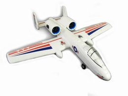 jet motors NZ - Free Shipping RC Airplane EPO Micro Plane A10 Pusher Jet Powered By Twin 30mm EDFs  Tail Push with Motor