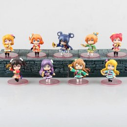 japanese love toys UK - 9pcs set Love Live! School Idol Action Figure Toys Collection Christmas Gift With Box Pvc Model Collection Japanese Anime
