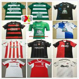 bf5765232df 18 19 LIGA MX Soccer Jerseys Club Leon Santos Laguna Necaxa Pachuca Atlas  Monterrey Tijuana Custom 2018 2019 Home Away Adult Football Shirt