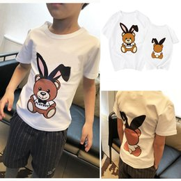 $enCountryForm.capitalKeyWord Canada - 2018 Family Summer Tshirt Bear Cartoon Mother Daughter Father Son Matching Tees White 100%Cotton Kids T Shirt Mum Baby Family Clothes Tops