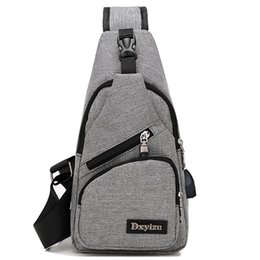 Single Shoulder Strap Packs Australia - Oxford Men Chest Pack Single Shoulder Strap Back Bag Crossbody Bags For Men Sling Shoulder Bag Backpack Travel New