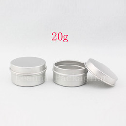 $enCountryForm.capitalKeyWord Australia - 20g X 100 empty care cream aluminum containers, empty ointments metal tin , silver cream aluminum jar bottles, cream can