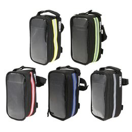 Discount samsung cycling - Touch Screen TPU Bike Bicycle Front Pouch Cycling Frame Bag Cell Phone Case Mobile Phone Bag for iPhone 5 5S 6 7 SE Sams