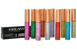 Chinese  HANDAIYAN Glitter Liquid Eyeliner Pen 10 Colors Metallic Shine Eye Shadow Liner manufacturers