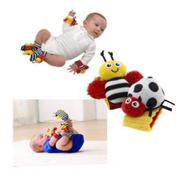 Baby Rattles Australia - New Design Sozzy Baby Boys Girls Toy Baby Rattle Animal Foot Finder Socks Wrist Strap Soft Children Infant Newborn Plush Sock